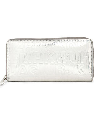 COMME DES GARCONS Embossed leather wallet