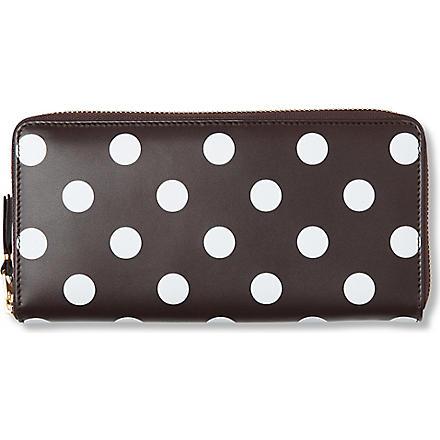 COMME DES GARCONS Polka-dot leather wallet (Brown