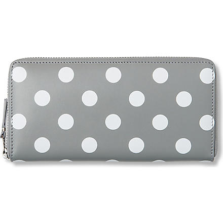 COMME DES GARCONS Polka-dot leather wallet (Grey