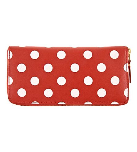 COMME DES GARCONS Polka-dot leather wallet (Red