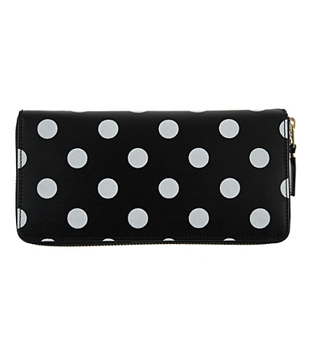 COMME DES GARCONS Polka-dot leather wallet (Black