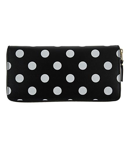 COMME DES GARCONS Polka-dot leather wallet (Black
