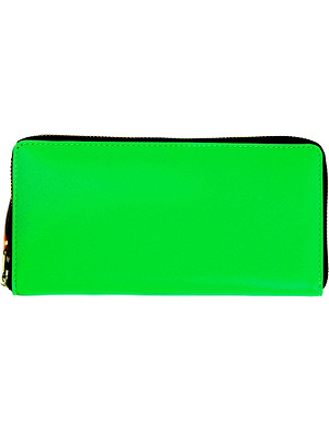 COMME DES GARCONS Fluoro leather wallet