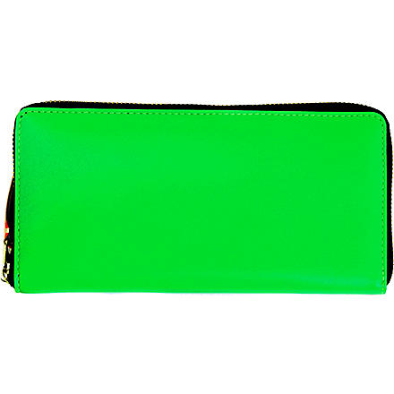COMME DES GARCONS Fluoro leather wallet (Green