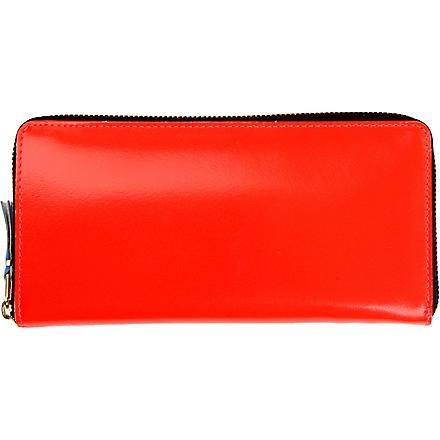 COMME DES GARCONS Fluoro leather wallet (Orange