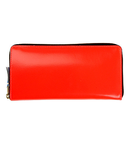 COMME DES GARCONS Fluoro leather wallet (Orange