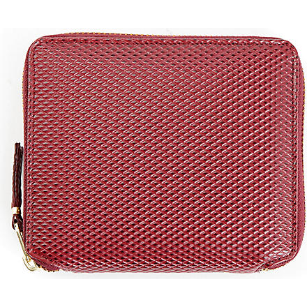 COMME DES GARCONS Luxury zip wallet (Burgundy
