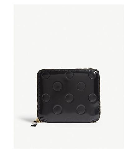 COMME DES GARCONS 圆点 leatherwallet (点/黑色
