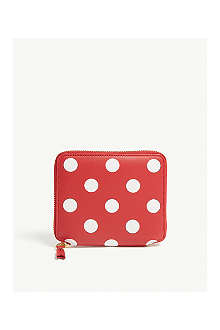 COMME DES GARCONS Polka-dot leather wallet