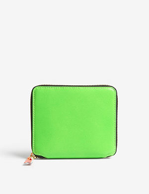 COMME DES GARCONS Fluoro medium leather wallet