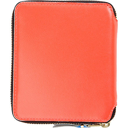 COMME DES GARCONS Fluoro medium leather wallet (Orange