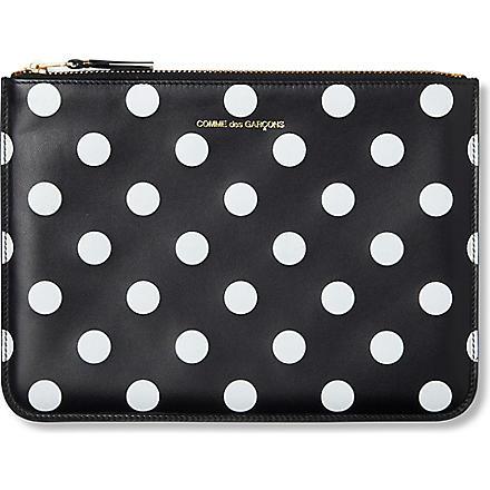 COMME DES GARCONS Polka-dot print pouch (Black