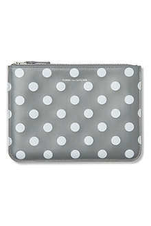 COMME DES GARCONS Polka-dot print pouch