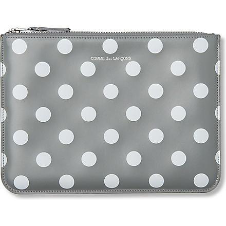 COMME DES GARCONS Polka-dot print pouch (Grey