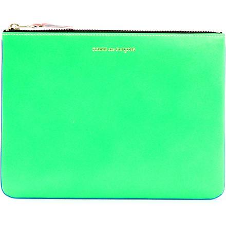 COMME DES GARCONS Fluorescent pouch (Blue