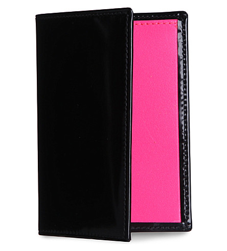 COMME DES GARCONS Bi-fold credit card holder (Pink