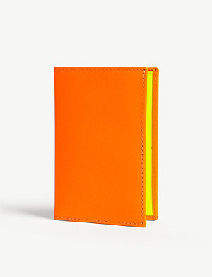 COMME DES GARCONS Fluoro leather card holder