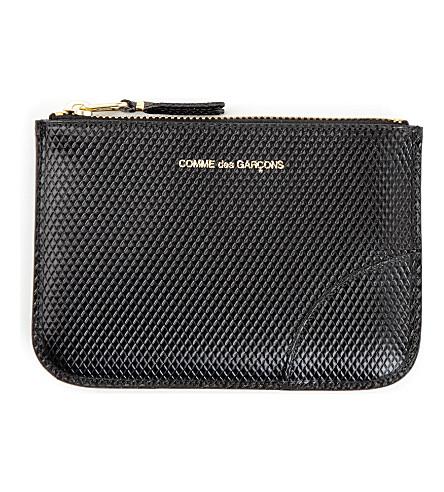 COMME DES GARCONS Leather zip pouch (Black