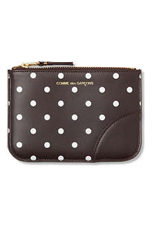 COMME DES GARCONS Polka-dot leather pouch