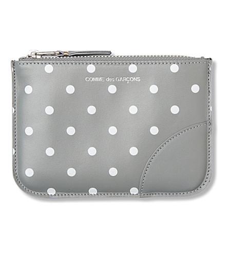 COMME DES GARCONS Polka dot-print pouch (Grey