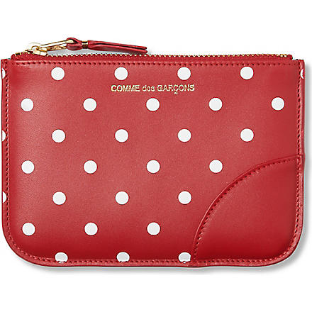COMME DES GARCONS Polka dot-print pouch (Red