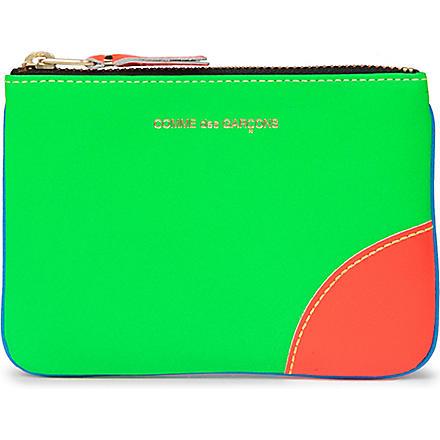 COMME DES GARCONS Super fluro zip coin purse (Blue