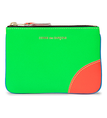 COMME DES GARCONS Super fluro zip coin purse (Blue