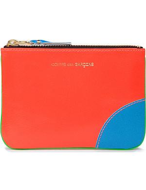 COMME DES GARCONS Super fluro zip coin purse