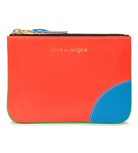 COMME DES GARCONS Super fluro zip coin purse (Green