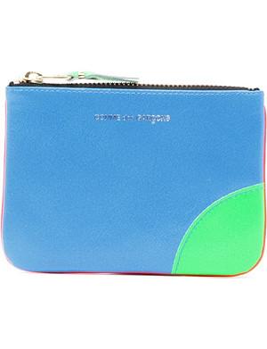 COMME DES GARCONS Fluorescent neon leather coin wallet