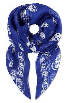 ALEXANDER MCQUEEN Classic skull chiffon scarf