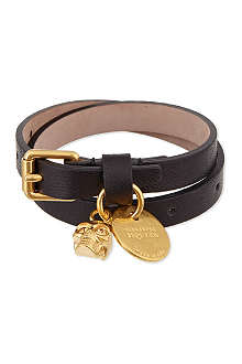 ALEXANDER MCQUEEN Double-wrap skull bracelet