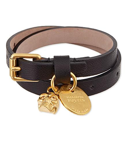 ALEXANDER MCQUEEN Double wrap bracelet (Black