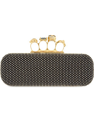 ALEXANDER MCQUEEN Knucklebox studded clutch