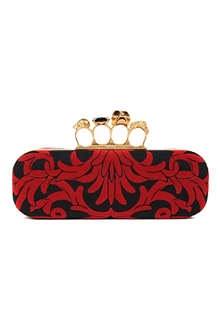 ALEXANDER MCQUEEN Knucklebox felt flower clutch