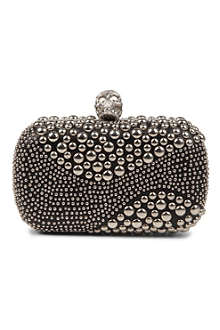 ALEXANDER MCQUEEN Skull studded leather box clutch