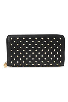 ALEXANDER MCQUEEN Studded leather zip wallet