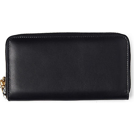 ALEXANDER MCQUEEN Skull leather wallet (Black
