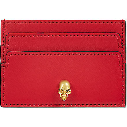 ALEXANDER MCQUEEN Skull card holder (Red