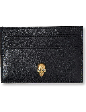 ALEXANDER MCQUEEN Skull-embellished card holder
