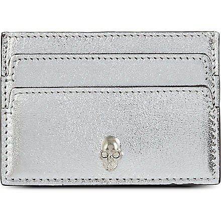 ALEXANDER MCQUEEN Skull card holder (Silver