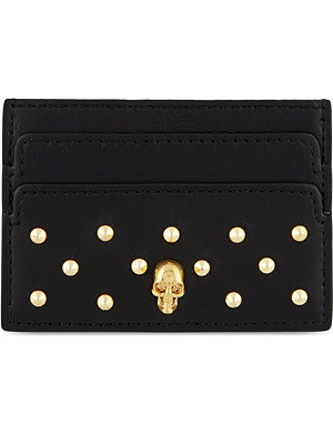 ALEXANDER MCQUEEN Studded leather card holder