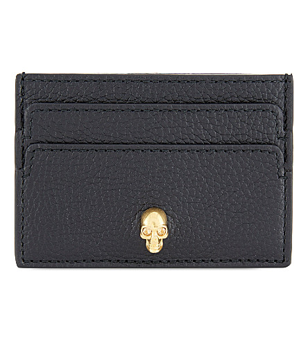 ALEXANDER MCQUEEN Skull card holder (Black