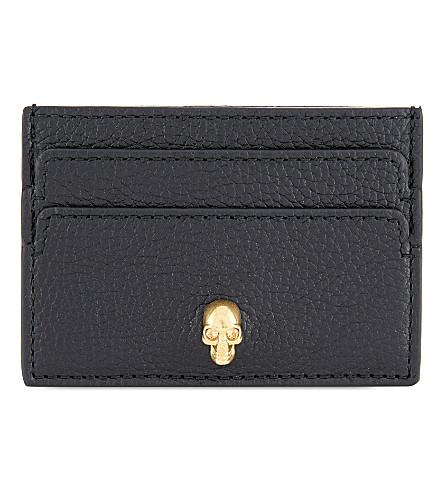 ALEXANDER MCQUEEN Skull card holder (Black