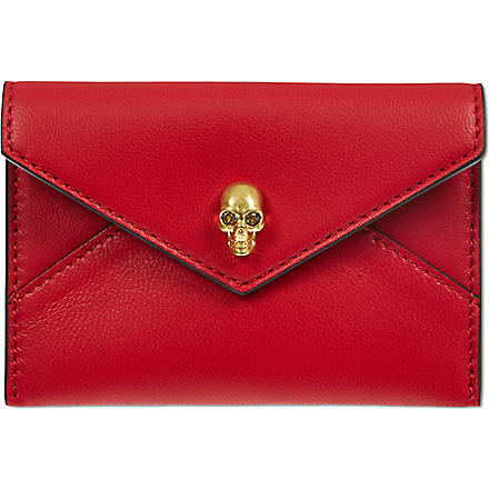 ALEXANDER MCQUEEN Envelope card holder (Red
