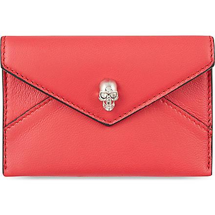 ALEXANDER MCQUEEN Envelope card holder (Red