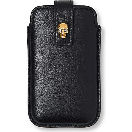 ALEXANDER MCQUEEN Skull iPhone 4 case (Black