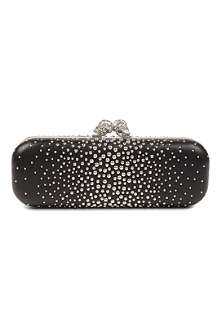 ALEXANDER MCQUEEN Twin Skull studded leather box clutch
