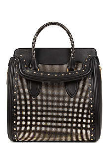 ALEXANDER MCQUEEN Heroine medium studded leather tote