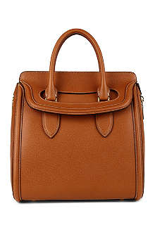 ALEXANDER MCQUEEN Heroine grained-leather tote